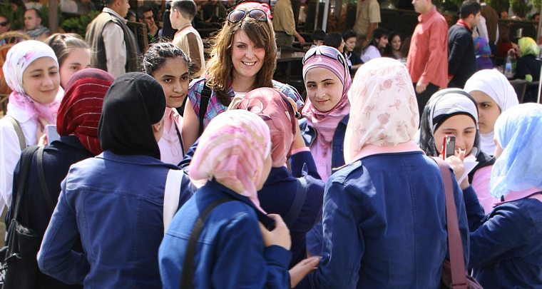 Surrounded by teenage girls in Aleppo
